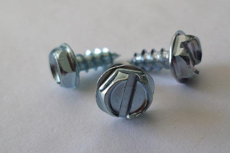 zinc plated hex washer tapping screw