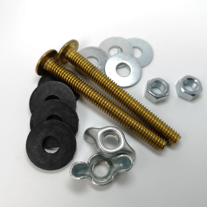 toilet tank bolt with washer and nut